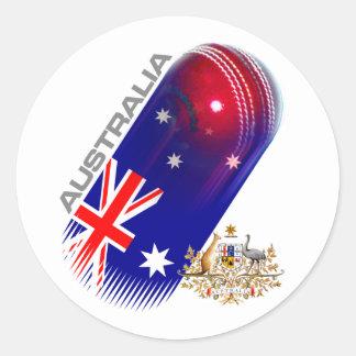 Cricket de l'Australie Sticker Rond