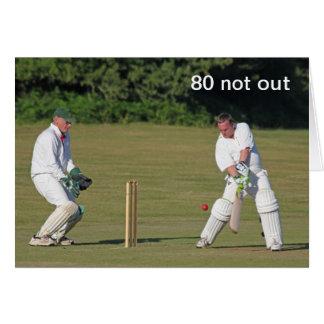 Cricket la quatre-vingtième carte d'anniversaire
