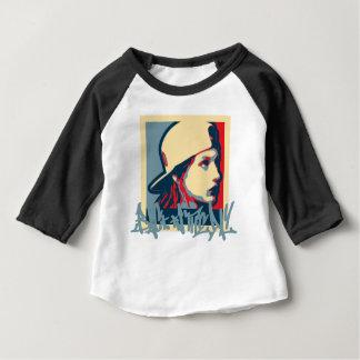 Crime vintage d'art de Hiphop Oldschool d'auteur T-shirt Pour Bébé