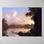 Crique de Catskill par l'église de Frederic Edwin Posters