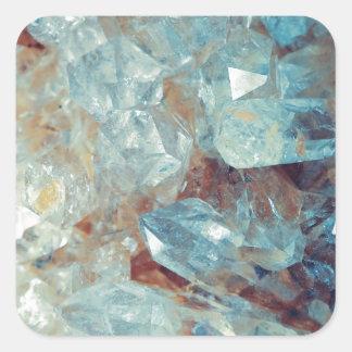 Cristal de quartz bleu merveilleux sticker carré