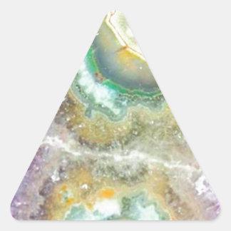 Cristaux de sucrerie de quartz sticker triangulaire
