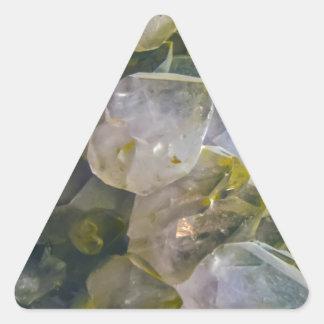 Cristaux vintages de marais sticker triangulaire