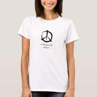 Critique et blog il T-shirt