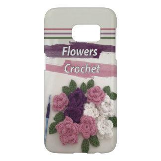 Crochet de fleurs coque samsung galaxy s7