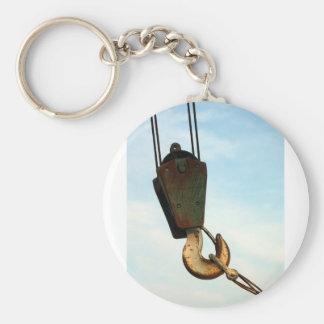 Crochet de grue porte-clé rond