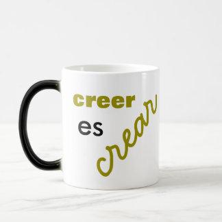 croire est de créer effiloche mug magic