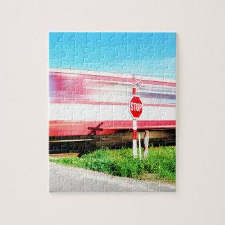 Croisement de chemin de fer puzzle