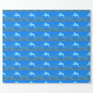Croisement drôle de dauphin d'éléphant papier cadeau