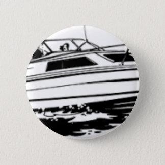 Croiseur de bateau de vitesse badge rond 5 cm