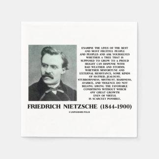 Croissance favorable Nietzsche d'états de malheur Serviettes Jetables
