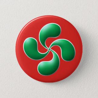 croix basque badge rond 5 cm