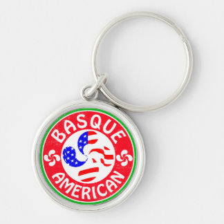 Croix Basque d'Euskara Lauburu d'Américain Porte-clés