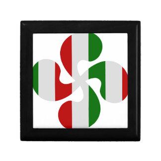 Croix Basque Multicouleurs Boîte À Souvenirs