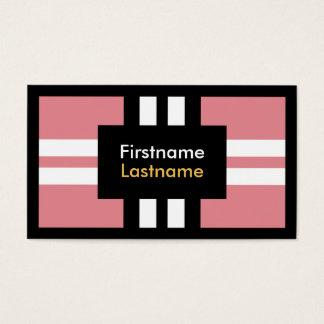 Croix blanche de rayures d'arrière - plan rose cartes de visite