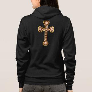 """Croix chrétienne avec des pierres de """"ambre"""" ou de veste à capuche"""