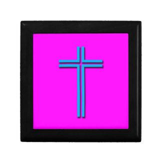 Croix colorée boîte à souvenirs