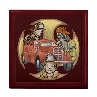 Croix de frères de sapeur-pompier boîte à souvenirs