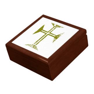 Croix de regard détruite par or de Faux Boîte À Souvenirs