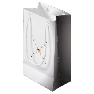 Croix orange mystérieuse de rayon de soleil de petit sac cadeau