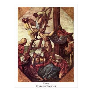 Croix par Jacopo Tintoretto Carte Postale
