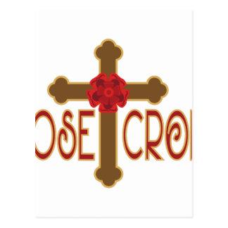 Croix rose carte postale