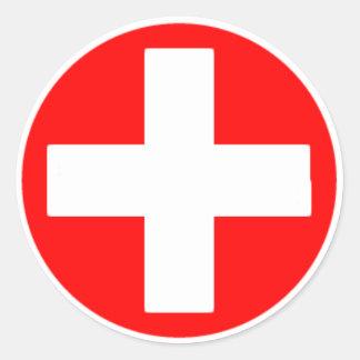 Croix-Rouge Sticker Rond