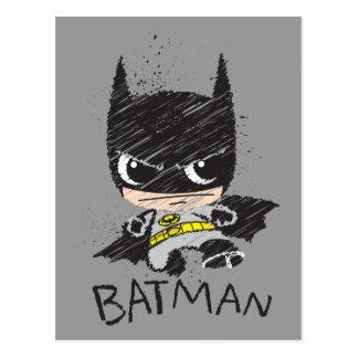 Croquis classique de Chibi Batman Carte Postale
