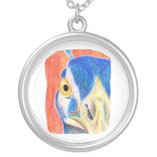 Croquis coloré par tête de dessin au crayon de collier
