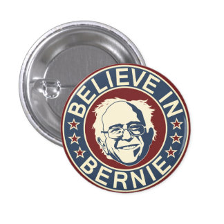 Croyez au bouton de Bernie (V2) Badge Rond 2,50 Cm