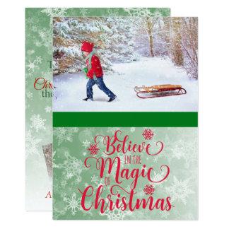 Croyez en magie de carte photo de Noël