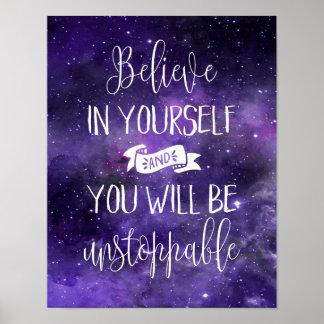 Croyez en vous-même la citation poster