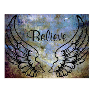 Croyez - la carte postale céleste d'ailes d'ange