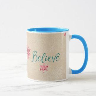 Croyez la tasse de Noël