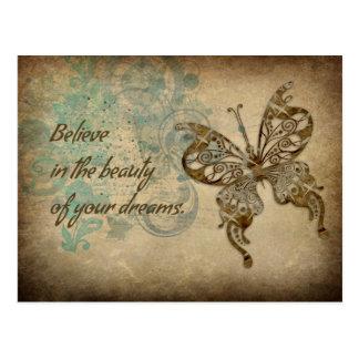 Croyez le papillon carte postale