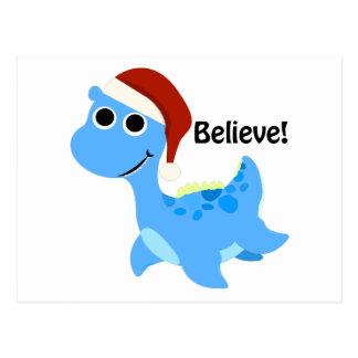 Croyez ! Nessie de Père Noël Carte Postale