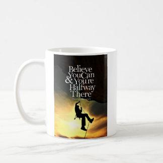 Croyez que vous pouvez citation de motivation de mug blanc