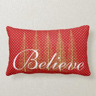 Croyez sur le carreau de Lumbar de Noël de points Coussin Rectangle