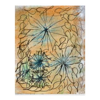 Cru âgé par gemmes de fleur prospectus 21,6 cm x 24,94 cm