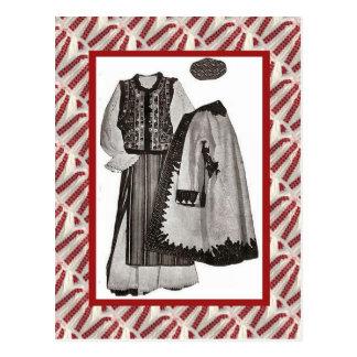 Cru, carte postale, vêtements 1900 de dames
