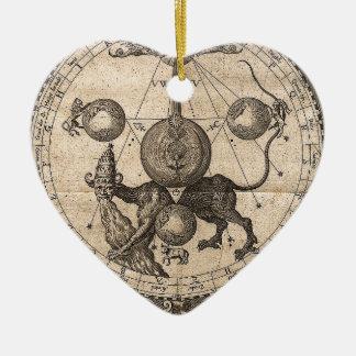 Cru de Cabala Ornement Cœur En Céramique