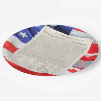 Cru de déclaration d'indépendance des Etats-Unis Assiettes En Papier
