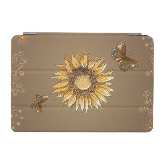 Cru de tournesol et de papillons élégant protection iPad mini