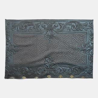 cru en cuir pressé de meubles de sculpture floral serviettes pour les mains