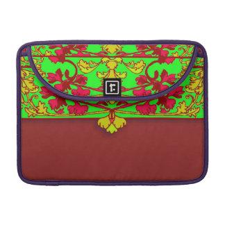 Cru floral poche pour macbook pro