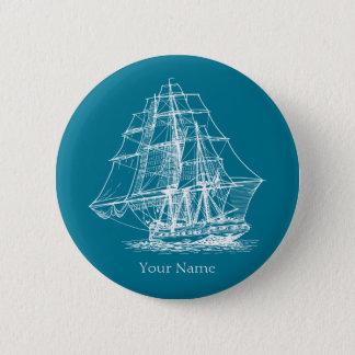 Cru grand de bateau de navigation nautique badge rond 5 cm
