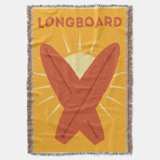 Cru hawaïen de planche de surf de Longboard rétro Couverture