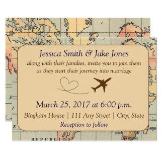 Cru, invitation orienté de mariage de voyage