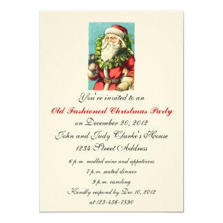 Cru le père noël d'invitations de dîner de Noël Carton D'invitation 12,7 Cm X 17,78 Cm