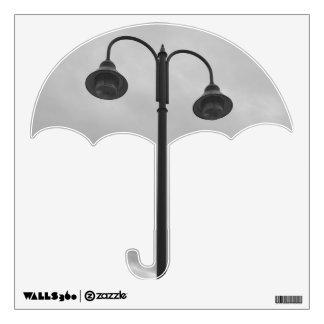 Cru noir et blanc de lampadaire